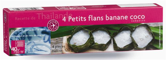 4 PETITS FLANS BANANE COCO
