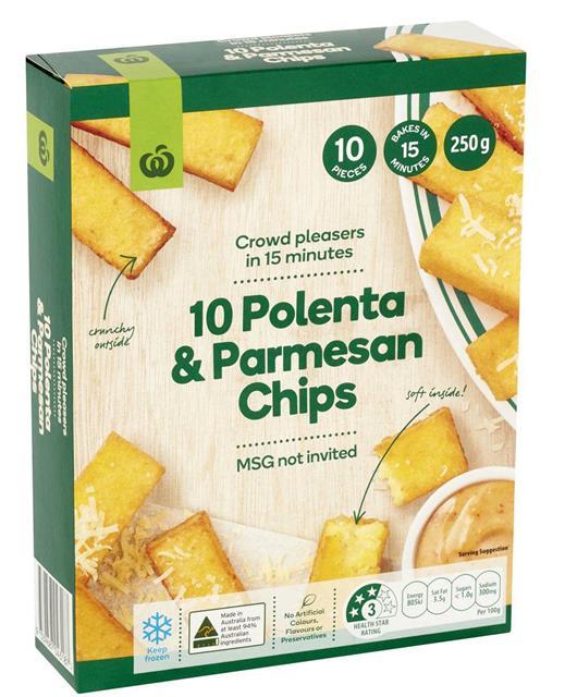 10 POLENTA & PARMESAN CHIPS